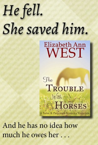 The Trouble With Horses a Pride and Prejudice Novella Variation book cover